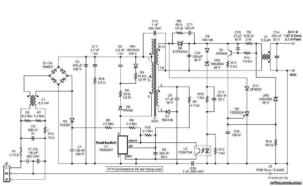 Рис.2 Схема электрическая