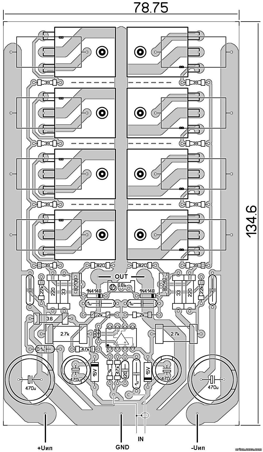 схема умзч 400вт на tda7293